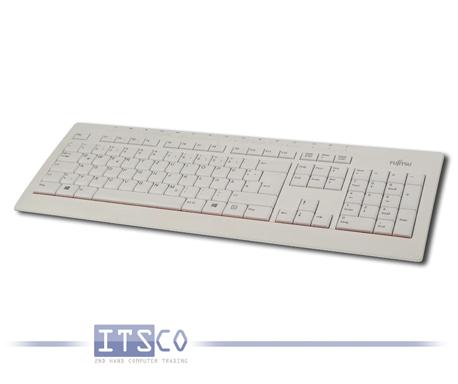Tastatur Fujitsu KB521 DE weiß/dunkelgrau USB-Anschluss