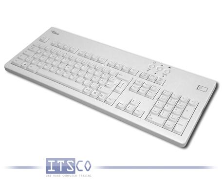 Tastatur Fujitsu Siemens KBPC CX D hellgrau 105 Tasten USB-Anschluss