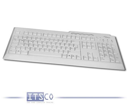 Tastatur Fujitsu KBPC PX ECO weiß/hellgrau USB-Anschluss