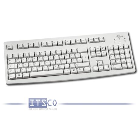Tastatur Fujitsu-Siemens hellgrau USB-Anschluss