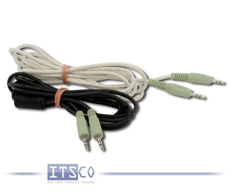 Stereo Audio Kabel verschiedene Farben, 3,5mm Klinke auf 3,5mm Klinke 1,80 Meter