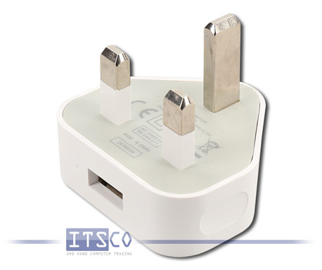 10x USB Power Adapter Wandladegerät UK-Stecker 3-Pin 5V 1A (5W)