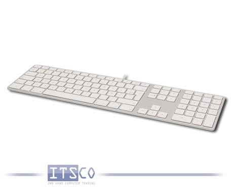 Tastatur Apple A1243 Weiß-Grau USB-Anschluss Belgisch AZERTY