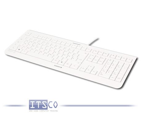 Tastatur Cherry KC 1000 Weiß-Grau USB-Anschluss Deutsch QWERTZ JK-0800DE-0