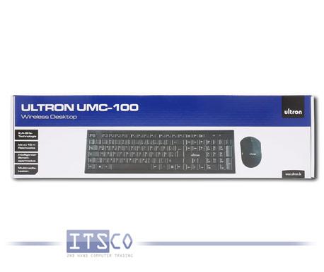Wireless Desktop Ultron UMC-100 Maus und Tastatur Set Kabellos Deutsch QWERTZ NEU & OVP