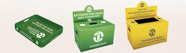 Sachgemäße Entsorgung von Batterien