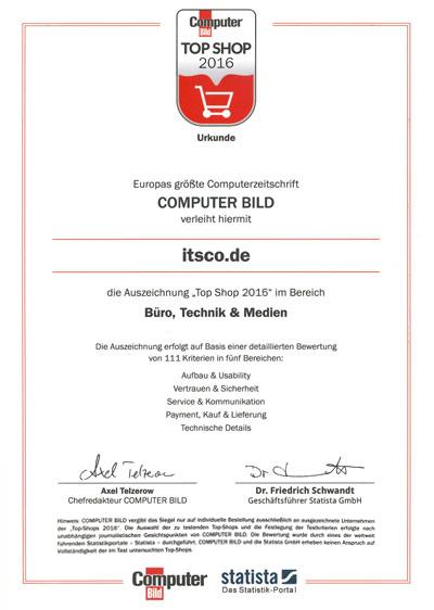ITSCO als TOP Shop 2015 ausgezeichnet