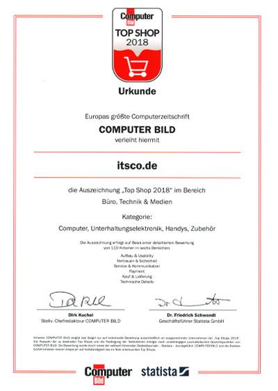 ITSCO als TOP Shop 2018 ausgezeichnet