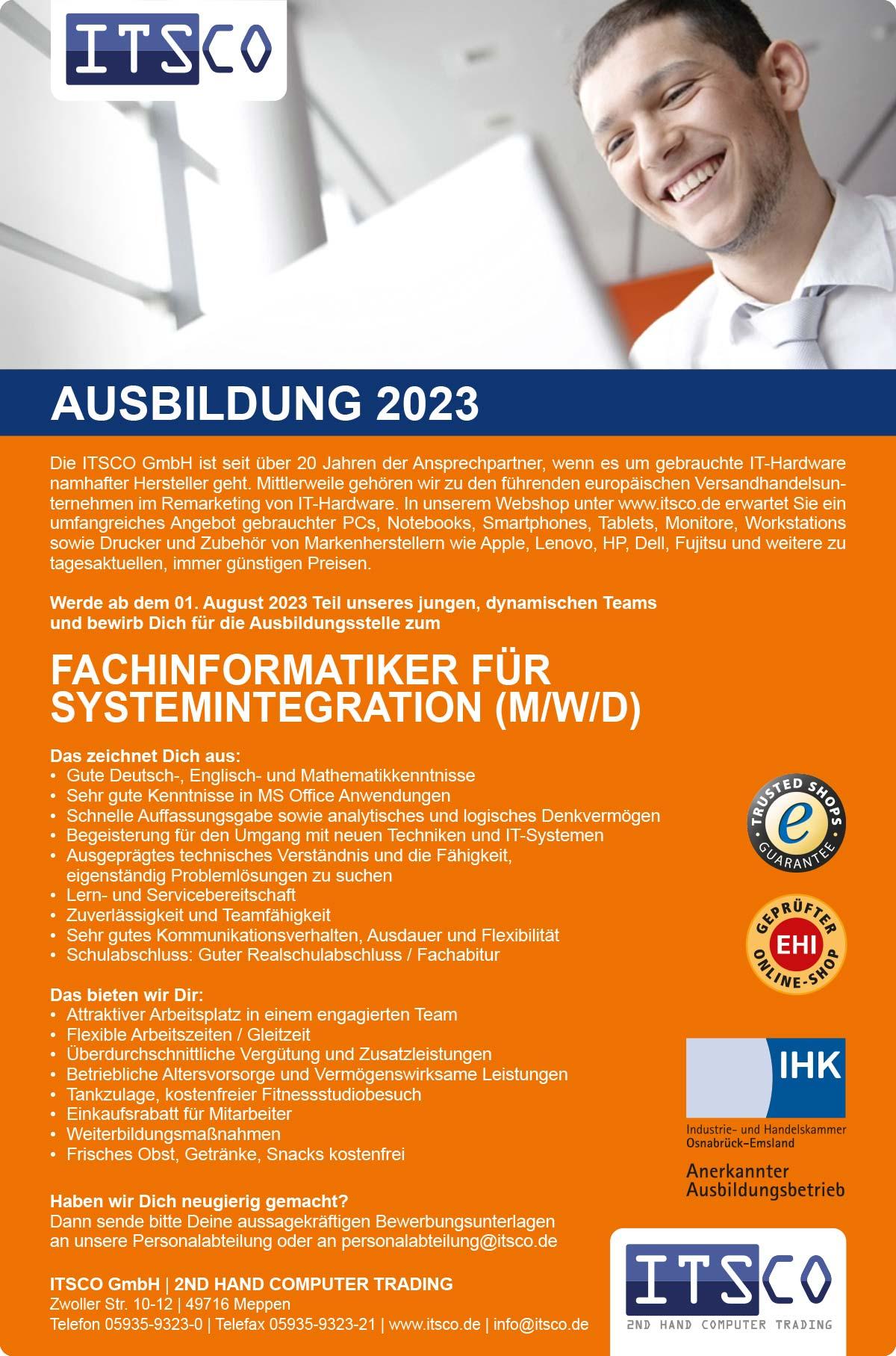 Ausbildung zum Fachinformatiker Systemintegration (m/w/d)