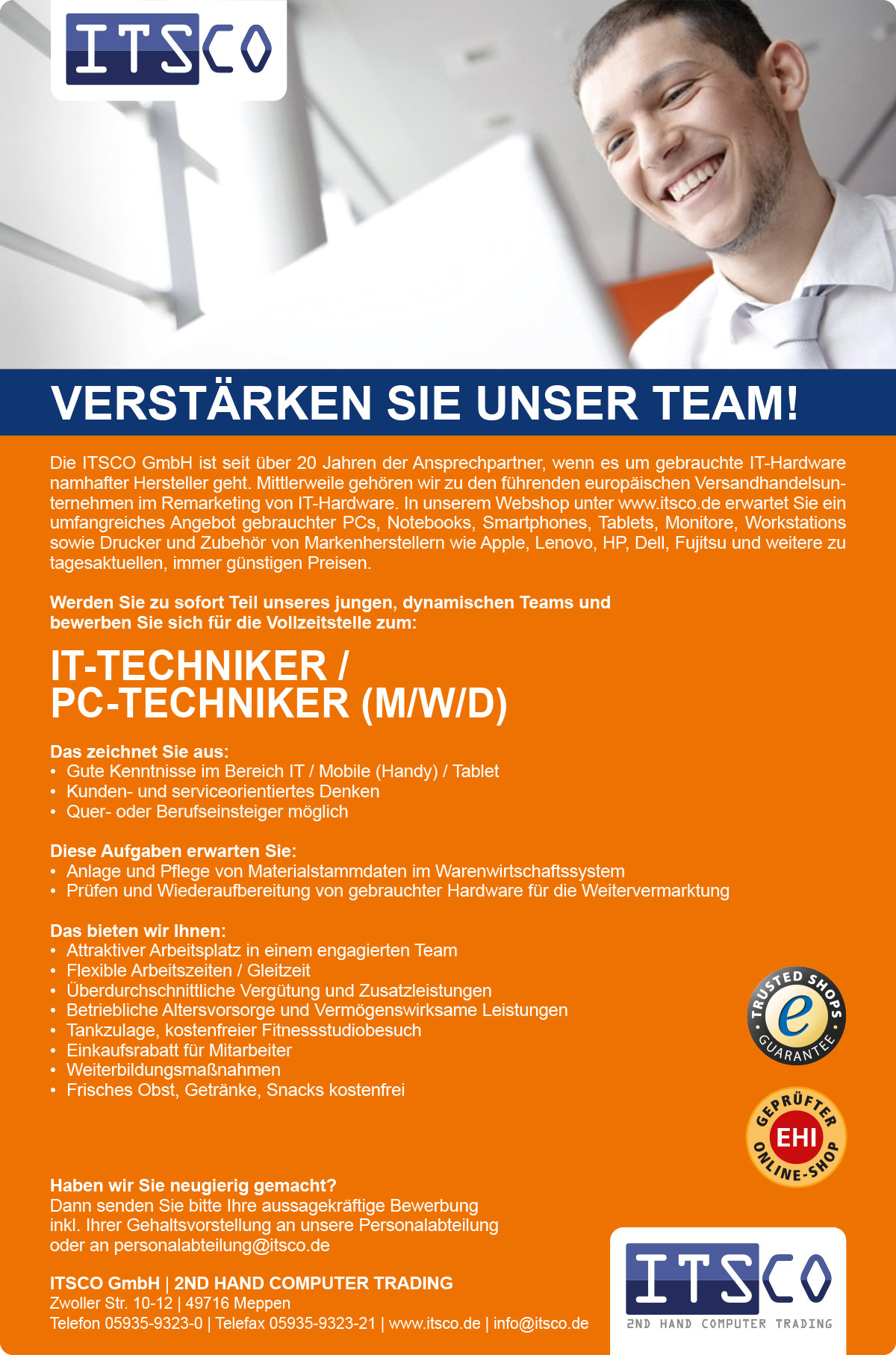 IT-Techniker / PC-Techniker (m/w/d)