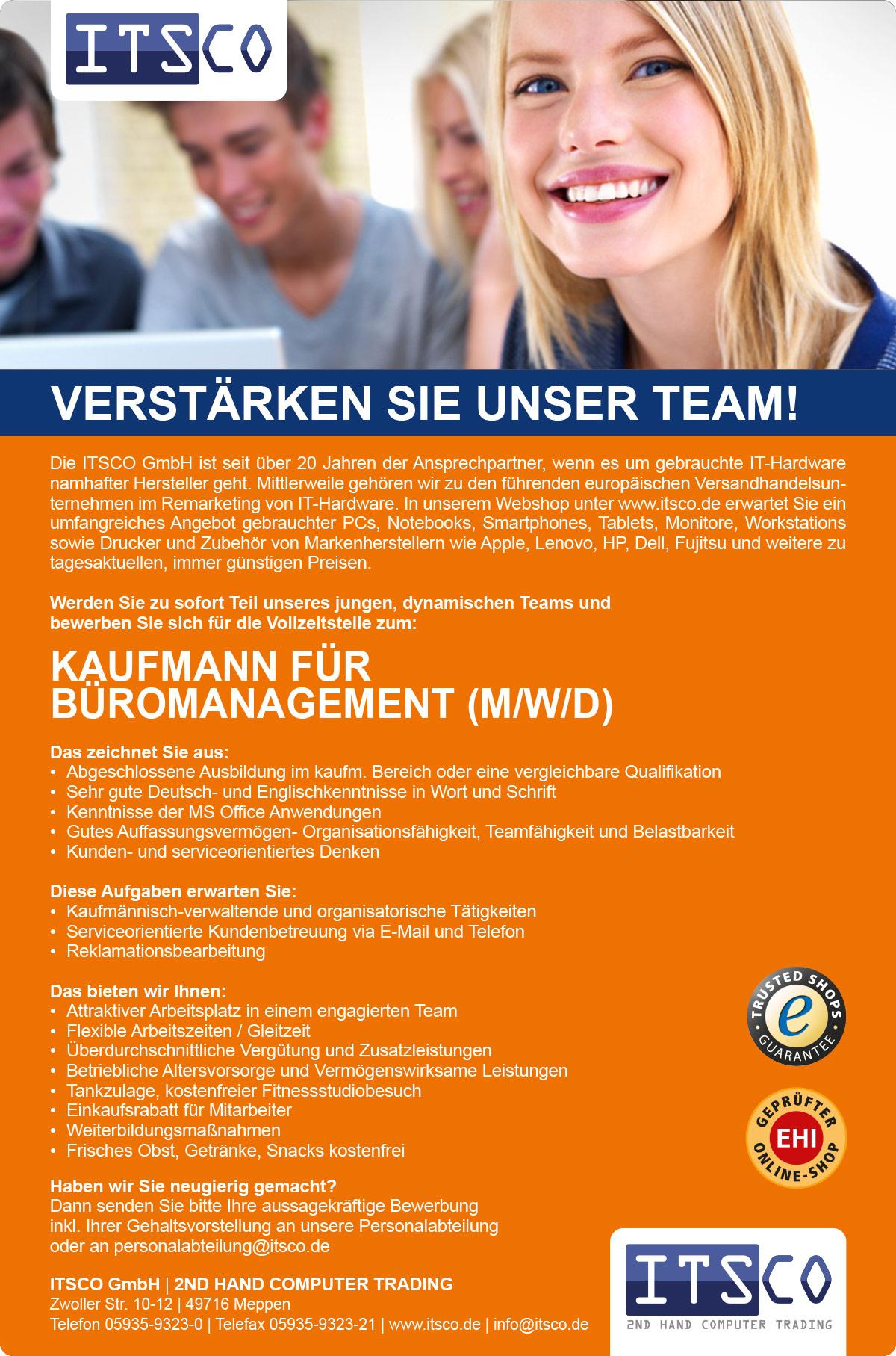 Kaufmann für Büromanagement (m/w/d)