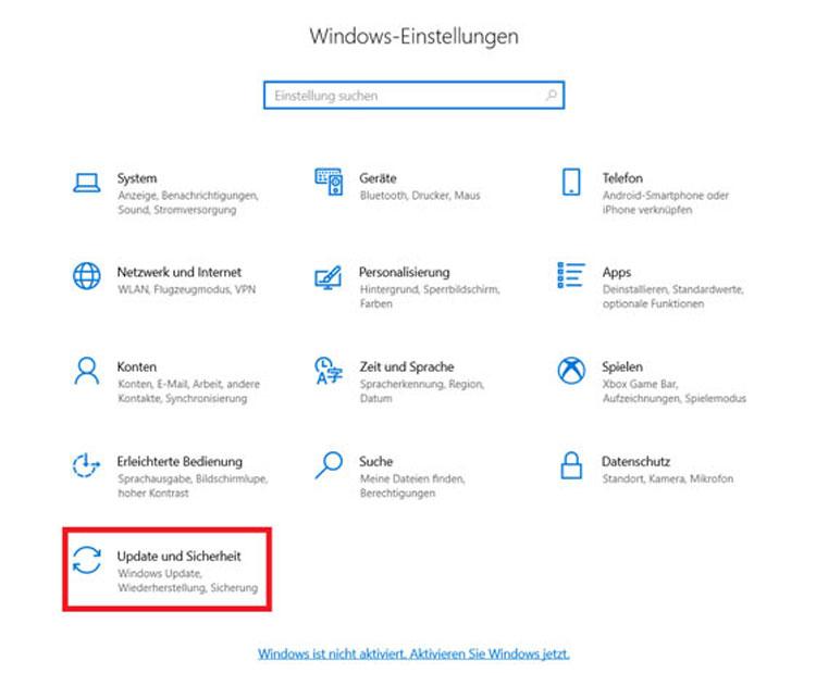Aktivieren Sie Windows 10 jetzt