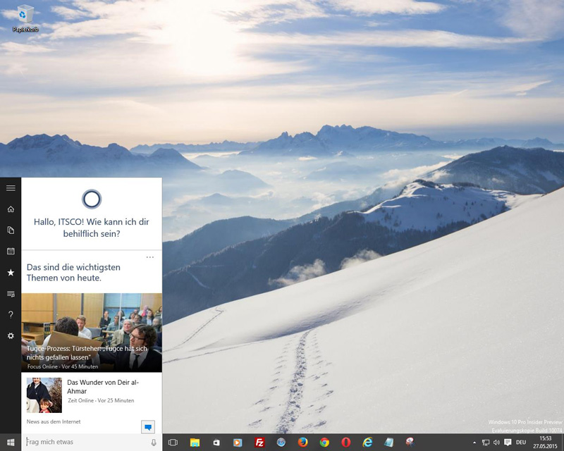 Windows 10 - Persönlich mit Cortana
