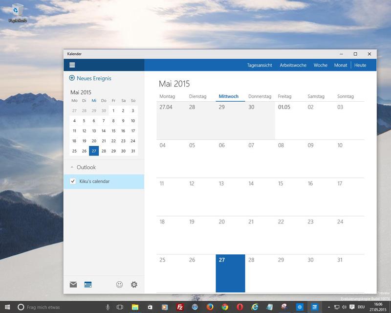Windows 10 - Funktionsumfangreicher Kalender