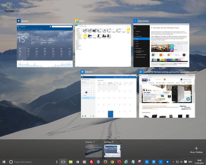 Windows 10 - Ihre Apps und Tasks auf einen Blick