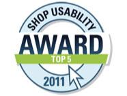 ITSCO unter den Top 5 beim Shop usability Award 2011