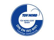 Qualitätsmanagement zertifiziert vom TÜV Nord
