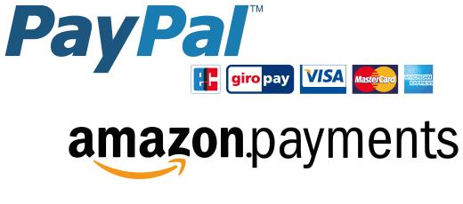 Bequem zahlen mit PayPal und Amazon