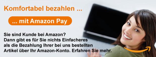 Jetzt noch komfortabler: Bezahlen mit Amazon Payments