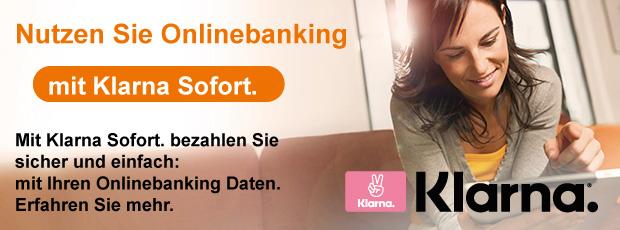 Nutzen Sie Ihr Onlinebanking mit Klarna Sofort.