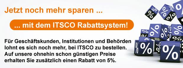 Mit dem ITSCO Rabattsystem sparen