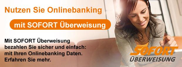 Nutzen Sie Ihr Onlinebanking mit SOFORT Überweisung